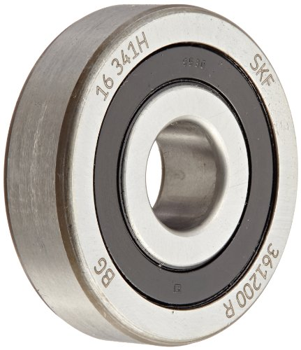 SKF 361200 R Yoke Type Track Roller, Crowned OD, Sealed, Metric, 10mm Bore, 32mm OD, 9mm Width