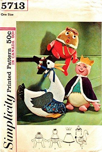 Amazon.com: Simplicity 5713 Mother Goose Stuffed Toys, Humpty Dumpty ...