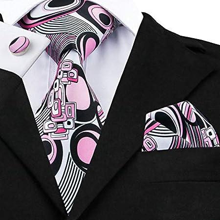 HYCZJH Nuevos Corbatas para Hombre, Color Rosa, Estilo ...