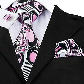 HYCZJH Nuevos Corbatas para Hombre, Color Rosa, Estilo novedoso ...