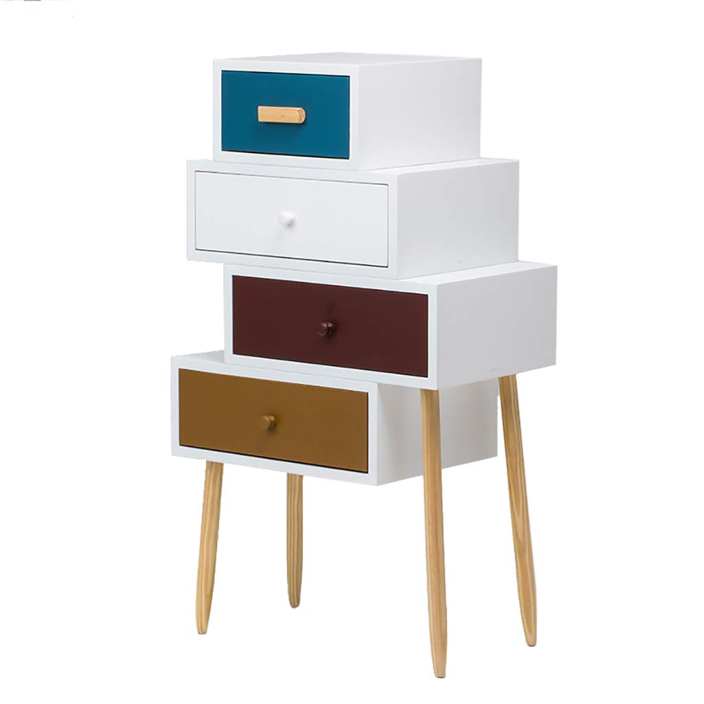 LQQGXLBedside Table Simple Modern Drawer Personality Creative Cabinet Locker Chest of Drawers Small Side Table (Size : 753490cm) by LQQGXL