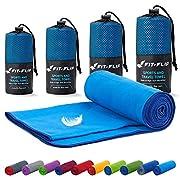 Fit-Flip Mikrofaser Handtuch Set – in Allen Größen / 18 Farben – Ultra leicht, kompakt, & schnelltrocknend – Microfaser…