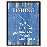 Fishing Inspirational Saying Gift Home Décor Wall Art Picture