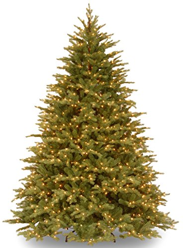 """7.5 Foot """"Feel Real"""" Nordic Spruce Tree with 1000 Clear Lights, Hinged () - National Tree PENS1-325-75"""