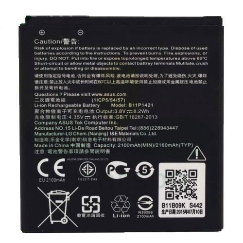 ASUS B11P1421 2100 MAh Battery For Asus ZenFone C ZC451CG Z007