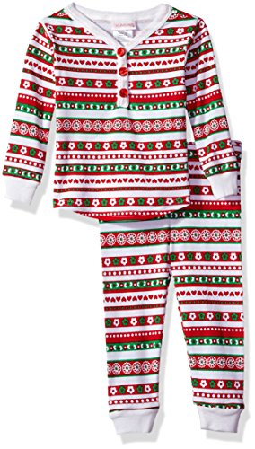 Dollie & Me Girls Christmas Snugfit Cotton Sleep Set, Red/Green, 4T ()