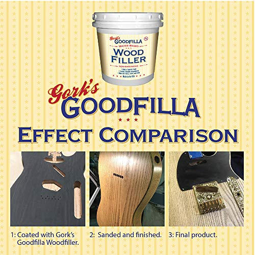 Water-Based Wood & Grain Filler - Cherry/Alder - 1 Quart by Goodfilla | Replace Every Filler & Putty | Repairs, Finishes & Patches | Paintable, Stainable, Sandable & Quick Drying