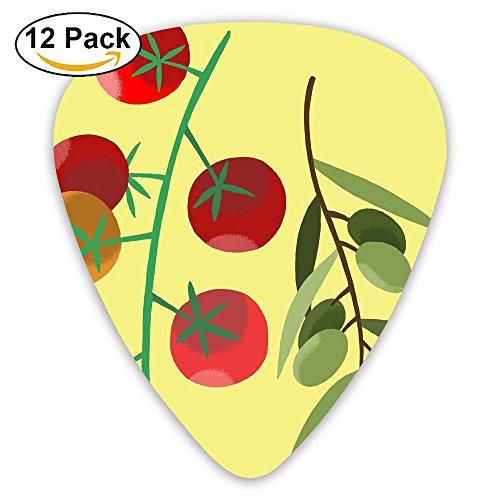 Carmel Tomato Fest Standard Guitar Pick 12 Pack, Medium Gauge 73mm ()