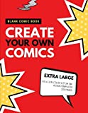 Blank Comic Book: Create Your Own Comics: Extra Large, 220 Pages, Action Templates (Blank Comic Book for Kids) (Volume 2)