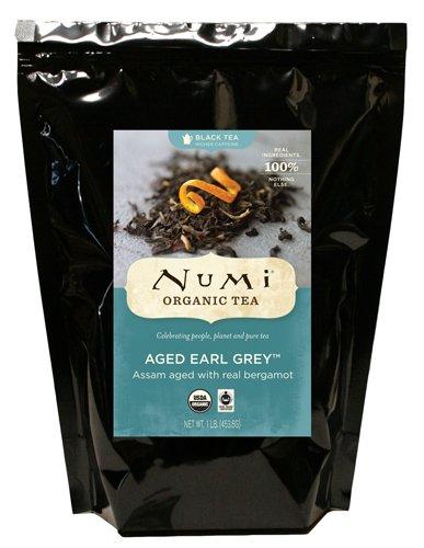 Numi Organic Tea Aged Earl Grey, Italian Bergamot Blended Black Tea, Loose Leaf, 16 Ounce Bulk (Organic Loose Tea)