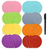 Caydo 24 Pieces 8 Colors Clothing Size Dividers Round Hangers Closet Dividers with Marker Pen: more info