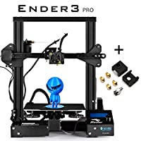 """SainSmart x Creality Ender-3 PRO 3D Printer with Upgraded C-Magnet Build Surface Plate Mat, UL Certified Power Supply, Extra 4 Nozzles, Build Volume 8.7"""" x 8.7"""" x 9.8"""""""