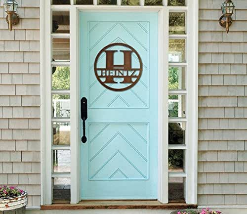 Monogram Front Door Decoration: Amazon.com: Monogram Front Door Circle, Last Name Initial