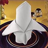 24 White Wedding Cotton Restaurant Dinner Cloth Linen Napkins Premium 20