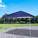 Homevibes 10′ x 10′ Pop up Canopy Tent Ez up Portable UV Coated Outdoor Garden Commercial Instant Tent Shade Folding Straight Leg for Parties Easy Set up with Carry Bag, Blue