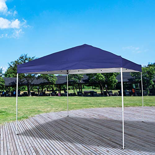 - Homevibes 10' x 10' Pop up Canopy Tent Ez up Portable UV Coated Outdoor Garden Commercial Instant Tent Shade Folding Straight Leg for Parties Easy Set up with Carry Bag, Blue