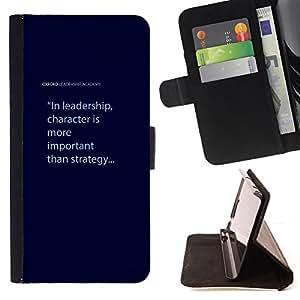 - Queen Pattern FOR Samsung Galaxy Note 4 IV /La identificaci????n del cr????dito ranuras para tarjetas tir????n de la caja Cartera de cuero cubie - leadership character blue text