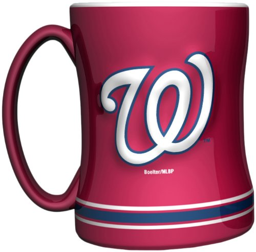 MLB Washington Nationals 14-Ounce Sculpted Relief Mug