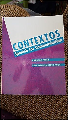 Pdf eBook -haku Contextos: Spanish for Communication ePub 0066322138