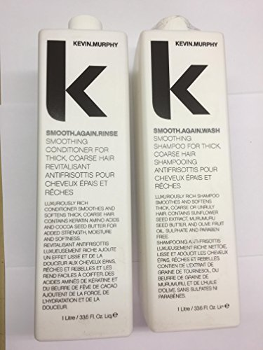Kevin Murphy Smooth Again Wash and Rinse combo set 1 Liter 33.6 Fl Oz Liq. each New Product! by Kevin Murphy