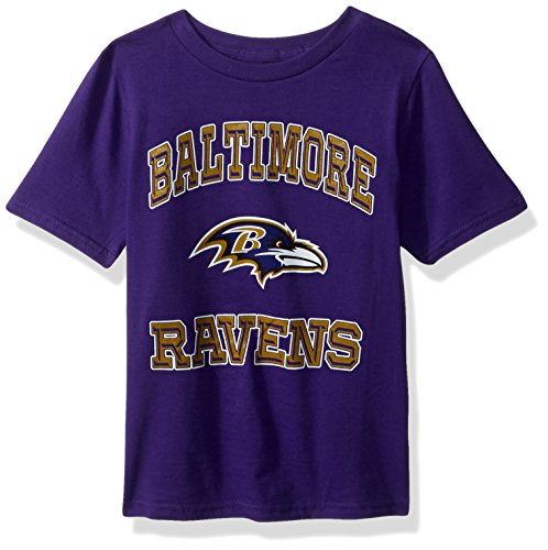- Outerstuff NFL Youth Boys Gridiron Hero Short Sleeve Tee-Purple-S(8), Baltimore Ravens