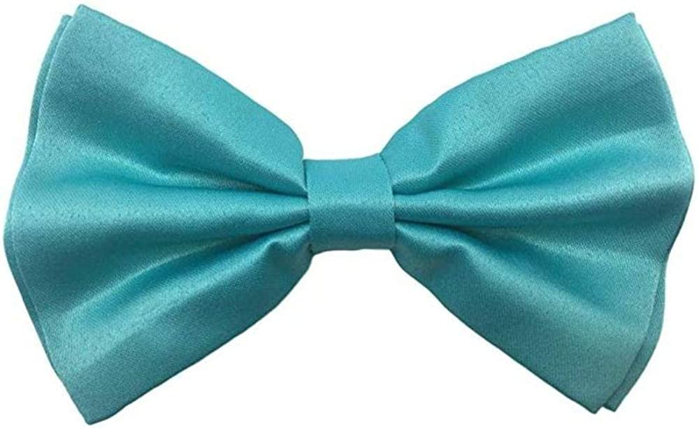 Amazon Com Awesome Teal Mint Blue Wedding Accessories Adjustable Bow Tie Suspenders Clothing