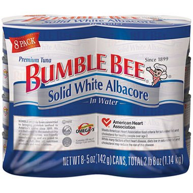 Bumble Bee Solid White Albacore in Water (5 oz. can, 8 pk.) by Bumble Bee