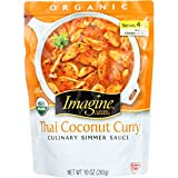 Imagine Culinary Organic Simmer Sauce, Thai Coconut Curry, 10 oz.