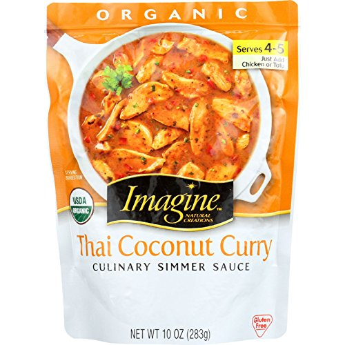 - Imagine Culinary Organic Simmer Sauce, Thai Coconut Curry, 10 oz.
