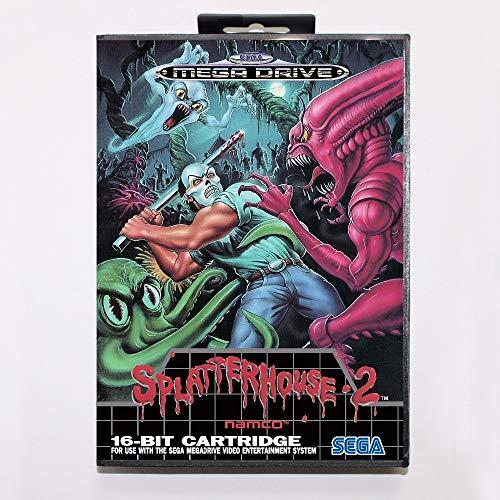 (The Crowd Tradensen Splatterhouse 2 Game Cartridge 16 Bit Md Game Card with Retail Box for Sega Mega Drive for Genesis)
