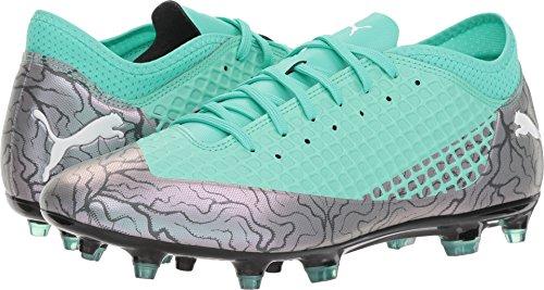 PUMA Men's Future 2.4 FG/AG Soccer Shoe, Color Shift-Biscay Green White Black, 12 M US