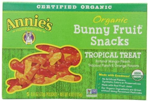 Tropical Treat Homegrown organiques lapin Fruit Snacks Annie, 4,0 onces boîtes (pack de 4)