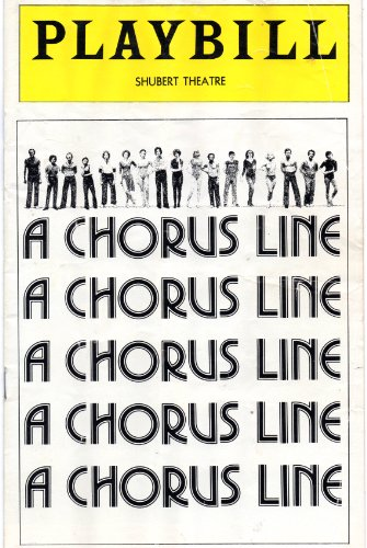 A Chorus Line Playbill for the Original Broadway Production, Conceived, Choreographed, and Directed By Michael Bennett - Shubert Theatre - March 1977