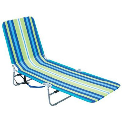 Rio Beach Portable Folding Backpack Beach Lounge Chair with Backpack Straps and Storage Pouch-Stripes - Ostrich Folding Chaise