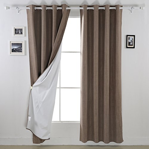 With MK Deconovo Blackout Curtain Panels Heavy Thick