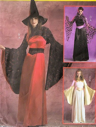 McCall's sewing pattern M5211 fantasy costumes - witch, vampire, princess - Adult size (Witch Costume Patterns For Adults)