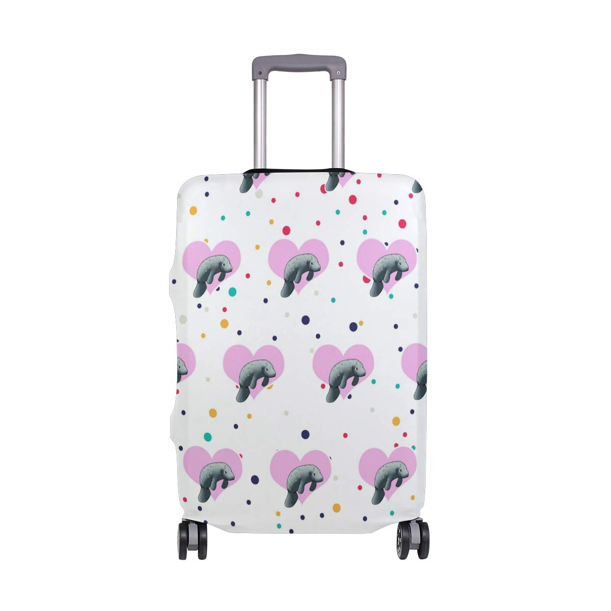 Love Manatee Travel Luggage Cover - Suitcase Protector HLive Spandex Dust Proof Covers with Zipper, Fits 18-32 inch