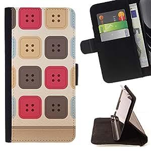 For Samsung Galaxy S5 V SM-G900 Case , Costura del patrón uniforme beige- la tarjeta de Crédito Slots PU Funda de cuero Monedero caso cubierta de piel