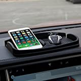 Topfit Anti-Slip Car Dash Grip Pad, Non Slip Mat Car Dashboard Skidproof Phone Holder Stand for Navigation Cell Phone, Keys, Sun Glasses(Medium-Black)