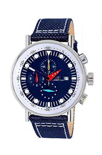 Adee Kaye Men's Quartz Stainless Steel Sport Watch, Color:Black (Model: ()