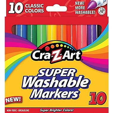 Cra-Z-art Classic Washable Broadline Markers, Box of 10 (10002-24)