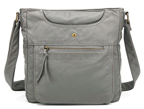 Grey Leather Handbags - 5