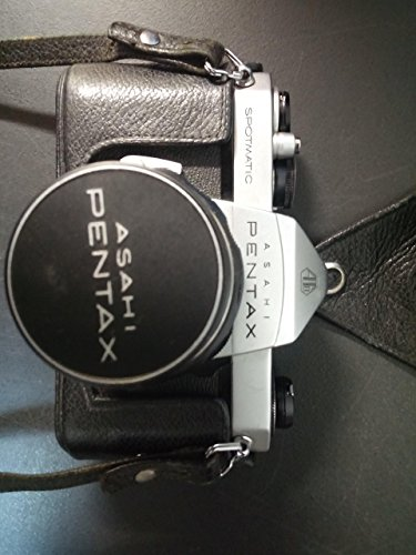 (PENTAX SPOTMATIC II 35MM FILM CAMERA WITH 50MM F 1.4 , LENS CAP & LEATHER STRAP)