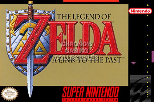 [CGC Huge Poster - The Legend of Zelda A Link to the Past Super Nintendo SNES Box Art (24