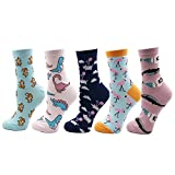VPM Cartoon Animal&Fruit&Food Women Crew Socks Gift Box 5 Pairs/Lot US 4-7 (802 opp)