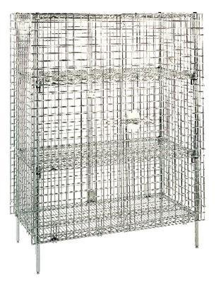Erecta Super Plated Chrome Metro (Metro SEC65EC Super Erecta Chrome Plated Heavy Gauge Wire Mobile Security Storage Unit, 900 lbs Capacity, 52-3/4