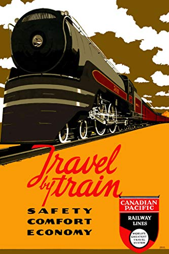 Canadian Pacific Railway Lines Travel by Train Vintage Travel Poster 12x18 inch ()
