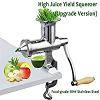 Improved Hand Operation Juicer Stainless Steel Wheatgrass Juicer Squeezer Fuite Juicer Presser with High Juice Yield