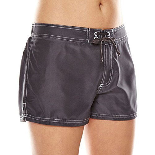 Zero Xposur Women's Woven Board Short, Slate, 10