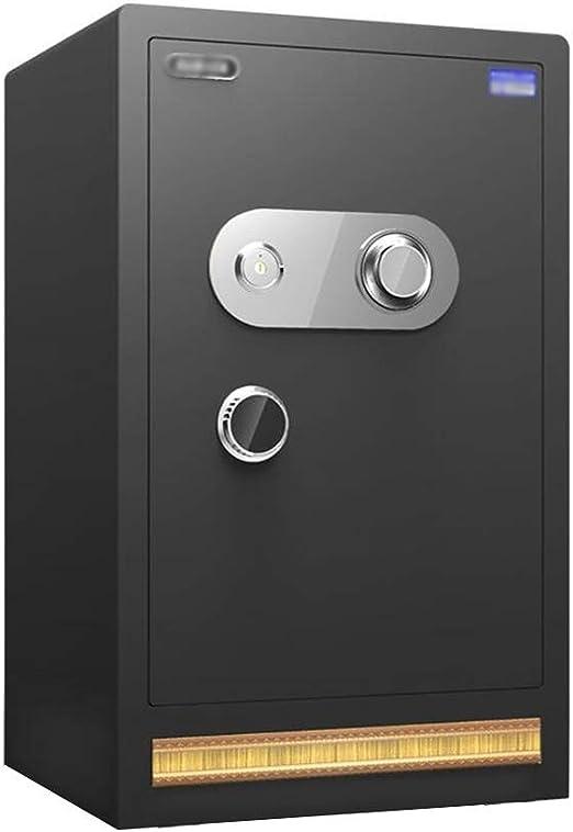Caja Fuerte mecánica de Acero antirrobo Grande, con Llave en el gabinete, contraseña de Bloqueo mecánico 0 Caja de Seguridad Manual de Oficina, Negro 60x39x32cm: Amazon.es: Hogar